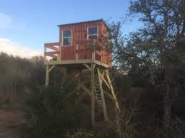 deer blinds gun bow blinds texas cedar modular this next one is on a 10 tower with a 4x8 front deck and an 8x8 blind
