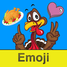 thanksgiving day emoji emoticon stickers for messages