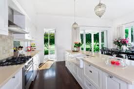 Pictures Of Galley Style Kitchens Kitchen Style Modern All White Galley Kitchen Dark Hardwood Floor