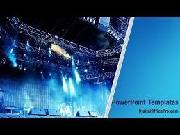concert stage powerpoint template backgrounds digitalofficepro