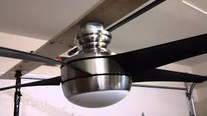 hton bay brushed nickel ceiling fan 52 hton bay windward iv ceiling fan youtube