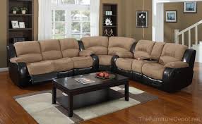 Reclining Sectional Sofa Motion Masters 3154 3 Pc Reclining Sectional Sofa W Console U2013 3155