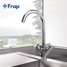 Kitchen Faucet Outlet Frap Simple Style Dual Handle Cold And Water Mixer Tap Kitchen