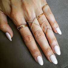 acrylics and bling light pink almond nails wish i could have