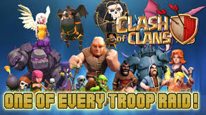 clash of clans all troops clash of clans one of every troop raid all of clash of clans