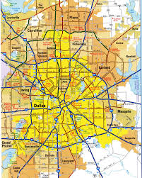 Texas Highway Map Highways Map Of Dallas Cityfree Maps Of Us