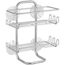 amazon com interdesign classico suction bathroom caddy shower