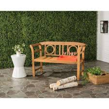 Teak Patio Furniture Wood Teak Outdoor Benches Patio Chairs The Home Depot