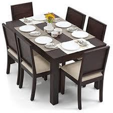 Dining Table Pics Arabia Oribi 6 Seater Dining Table Set Mahogany Finish Wheat