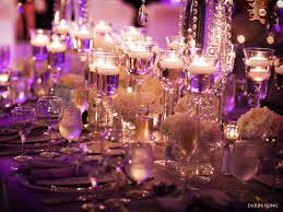 Elegant Wedding Centerpieces Decoration Entrancing Picture Of Purple White Wedding Table