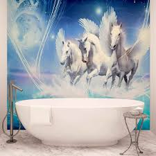 top 50 bestselling photo wallpaper for girls bestselling winged horse pegasus blue photo wallpaper mural 588wm