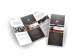 stunning design architect a3 tri fold brochure template