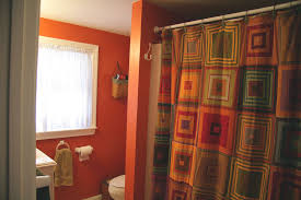 Orange Shower Curtains Cool Orange Shower Curtain Scheduleaplane Interior