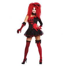 Halloween Costume Harley Quinn Jesterina Tricksterina Harley Quinn Halloween Cool Clown Fancy