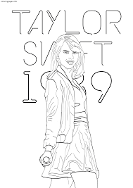 taylor swift coloring pages pdf free coloring pages