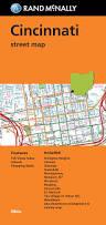 Cincinnati Ohio Zip Code Map by Folded Map Cincinnati Street Map Rand Mcnally Rand Mcnally