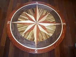 wood compass wall 60 compass floor medallion surf city compass floor