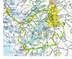 easton map easton maryland bishops house biking cycing tour of the tred