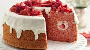 strawberry rhubarb chiffon cake recipe bettycrocker com