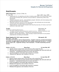 Resume Examples Cashier by Sample Cashier Job Dutie 7 Documents In Word Pdf