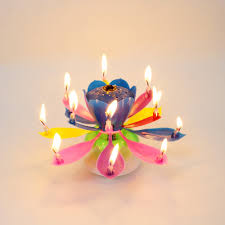 spinning birthday candle birthday candle firework musical lotus rotating happy