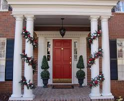 Painting Exterior Brick Wall - exterior alluring black painted christmas front door decorating