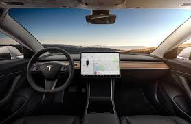 test drive tesla model 3 test drive car has bite and simple interior wsj