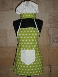 patron tablier cuisine enfant tablier et toque de cuisinier enfant mes créa couture