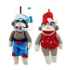 midwest sock monkey swimmer swimming ornament mw270172 ebay