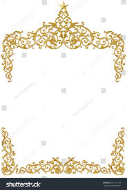 old antique gold frame stucco walls stock photo 391700143