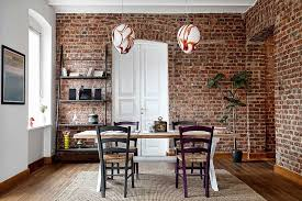 Bold And Inventive Dining Rooms With Brick Walls - Dining room walls