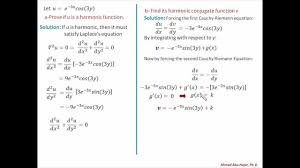 complex variables math example of a harmonic function youtube