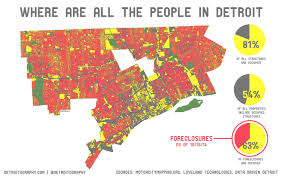 Population Map Detroit Population Density Map Detroit Population Map Michigan