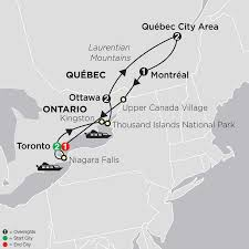 French Canada Map by Toronto Tour U0026 More Cosmos Budget Travel Packages