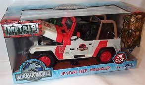 jurassic world jeep 29 amazon com jada metals 1 24 w b jurassic world jp staff jeep