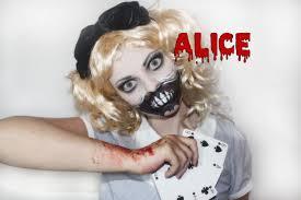 scary alice in wonderland halloween costume halloween series 2013 alice in wonderland makeup tim burton