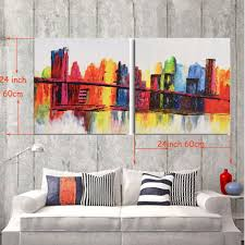 Modern Wall Art Abstract City View Painting Iarts Professional Wall Art