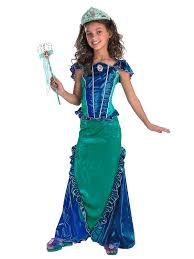 girls cheap halloween costumes ariel mermaid deluxe costume disney princess party costumes
