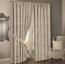 Demask Curtains Damask Floral Design Jacquard Fully Lined Curtains Colour