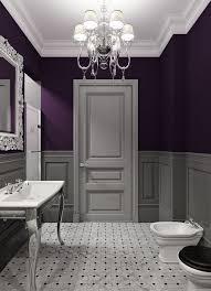 grey and purple bathroom ideas bathroom decor ideas purple paint and chandelier the glamorous