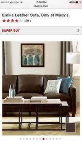 Greccio Leather Sofa Emilia Leather Sofa Macy U0027s Sale Price 869 Living Room