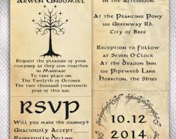 wedding quotes lord of the rings invitation wording for our lord of the rings wedding i came up