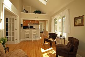 Small Open Plan Kitchen Designs by Impressive Open Plan Kitchen Design With Brown Swiwel Chair And