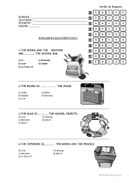 8 free esl prepositions of place test worksheets