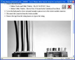 2006 chevy silverado fan motor not working heater problem 2006