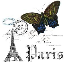 paris and butterfly collage free printable the cottage market