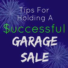 garage sale tips u0026 ideas
