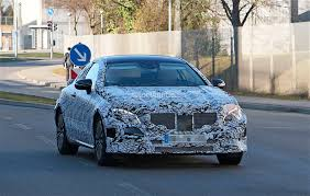 2018 mercedes benz e class coupe shows its b pillarless profile