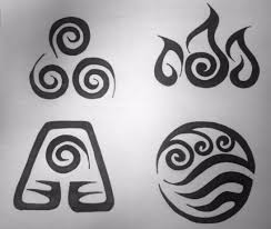 avatar element symbols tribal design by graffitica