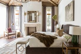 appealing bedroom with fireplace for calmness rest simple elegant houston home traditional home